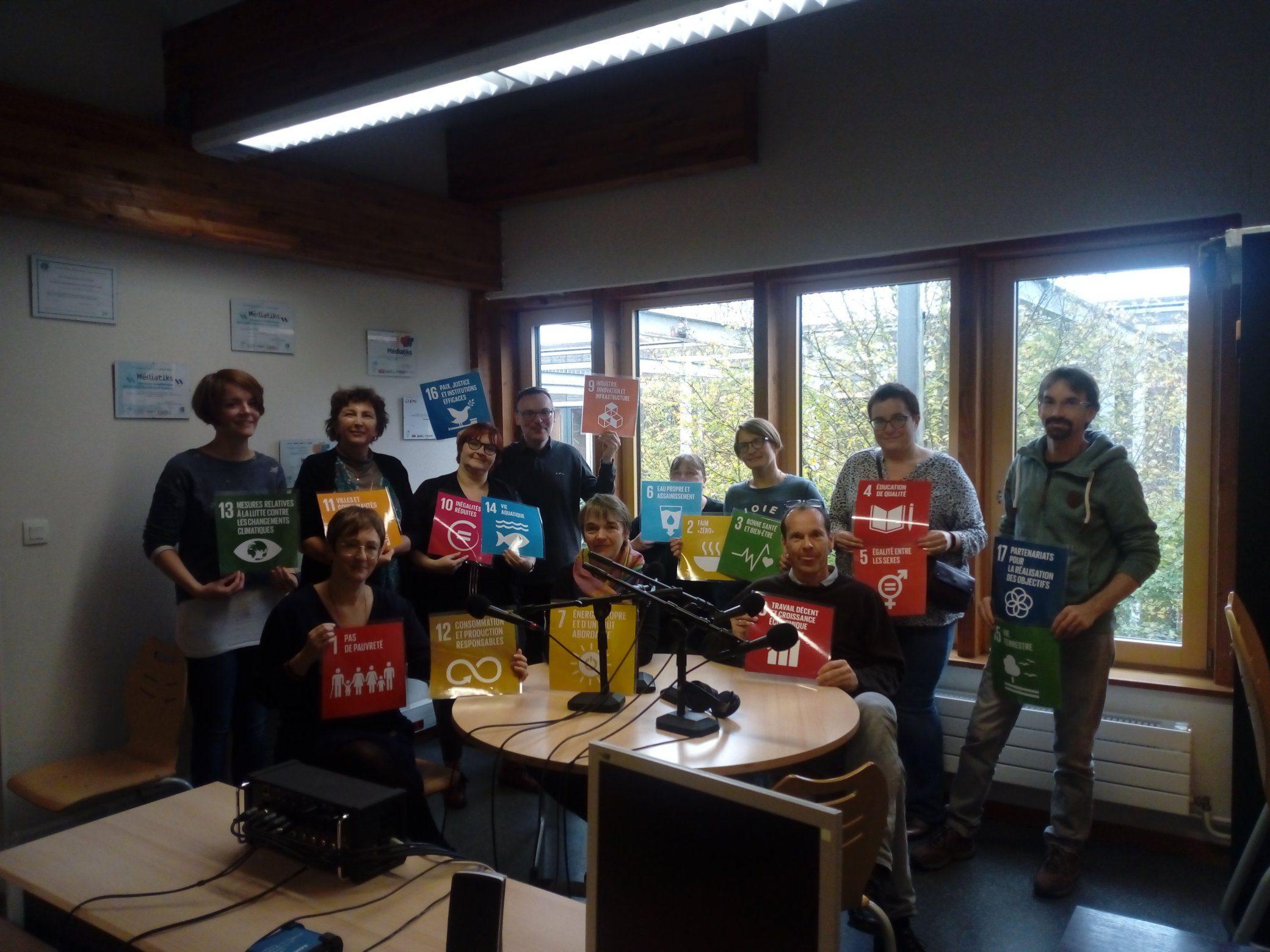 L'équipe Erasmus + issus de Lorraine, Pays Basque, Belgique et Allemagne